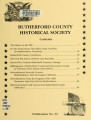 Rutherford County Historical Society Publication No. 39