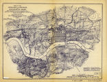Map of the Approaches and Defences of Knoxville Showing the Positions Occupied by the United...