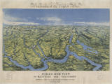 Panorama of the Seat of War.  Bird's Eye View of Kentucky and Tennessee Showing Cairo and Part of...