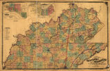 New map of Kentucky and Tennessee from authentic reports of county surveyors throughout the states...