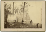 Walker the Artist and Theodore Davis at work on Lookout Mountain; Civil War; Chattanooga (Tenn)