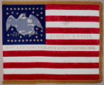 U.S. Flag given to Susan Brownlow by the Ladies of Philadelphia, June 13, 1862 for her courageous...