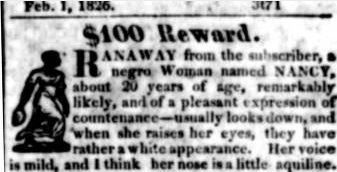 North Carolina Runaway Slave Advertisements, 1751-1840